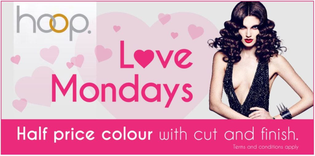 Love Mondays hair offer at best hairdressers in Clacton on Sea, Essex