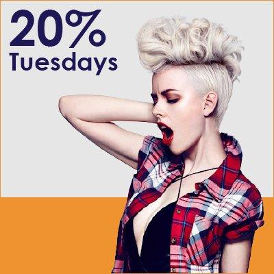 20% Tuesdays